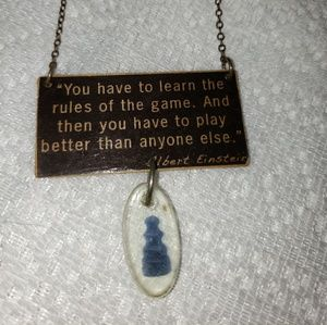 Einstein Quote Necklace